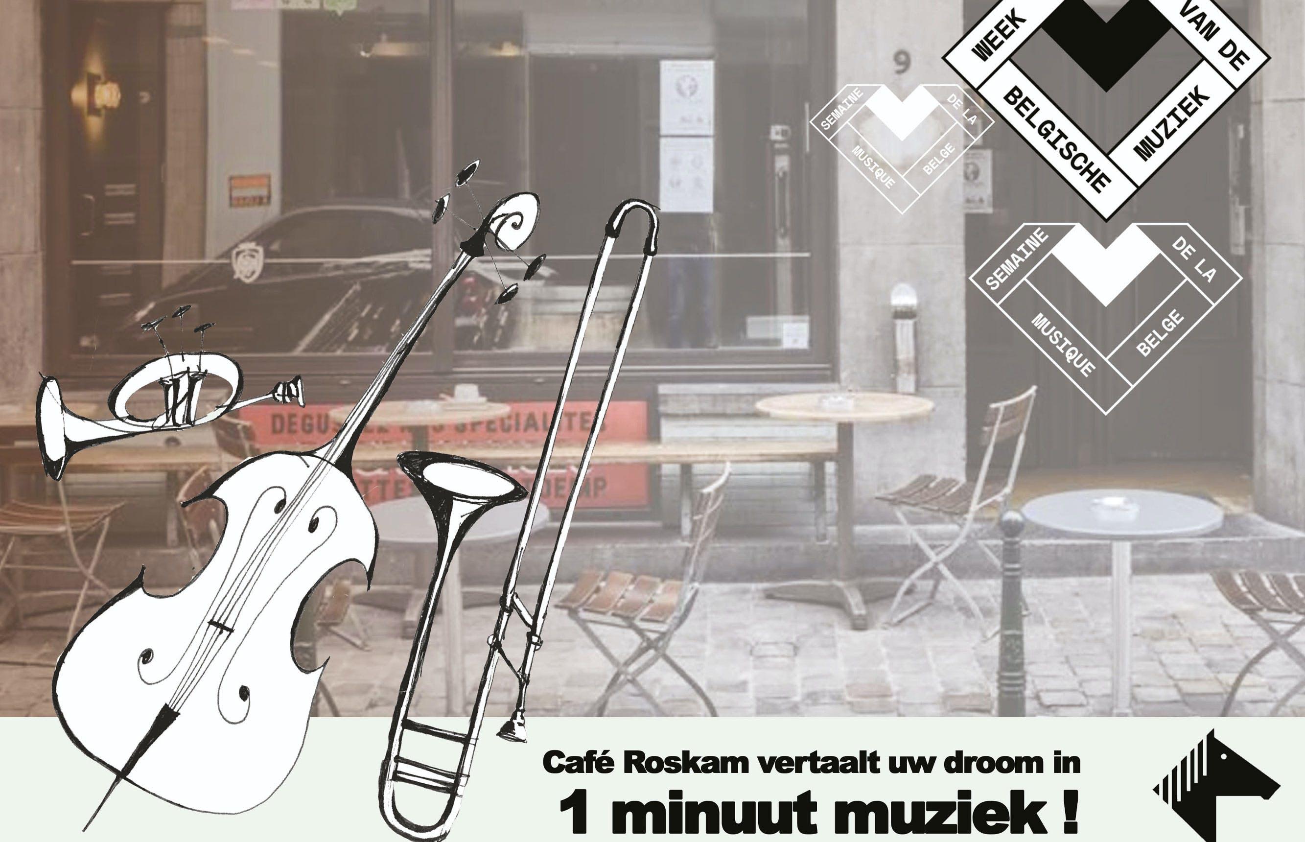 Café Roskam vertaalt uw dromen, wensen en frustraties in 1 minuut muziek