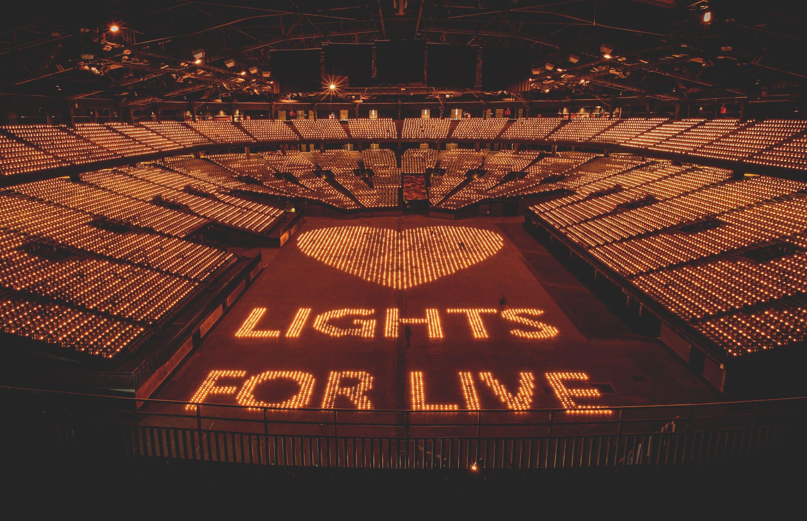 Lights for Live verkoopt Sportpaleis uit ten voordele van LIVE2020