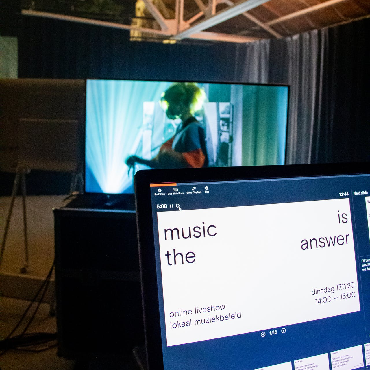 behind the scenes @ launch 'music is the answer'